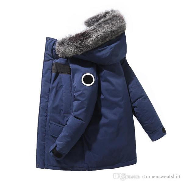 La vente de veste pour hommes de la marque classique mode d'hiver North Face duvet de haute qualité caraco longue extérieur coupe-vent manteaux à capuchon chaud
