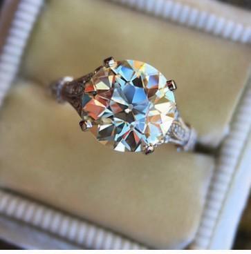 venta al por mayor precio bajo 2 unids / lote venta caliente hermosa dimaond cristal 925 anillo de la boda de la señora de plata 6 --- 10 (5.8iuv