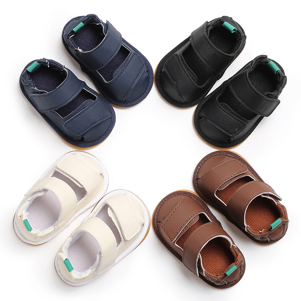 Baby Boy Sandals Soft Gladiator Leather Walking Sandals Summer Cute Kids Beach Shoes for Girls Children First Walker Shoes Foot