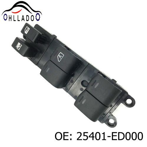 best selling HLLADO High Quality Car Accessories 25401-ED000 Power Master Control Window Switch For N issan Tii da 25401ED000 Power Window Switch