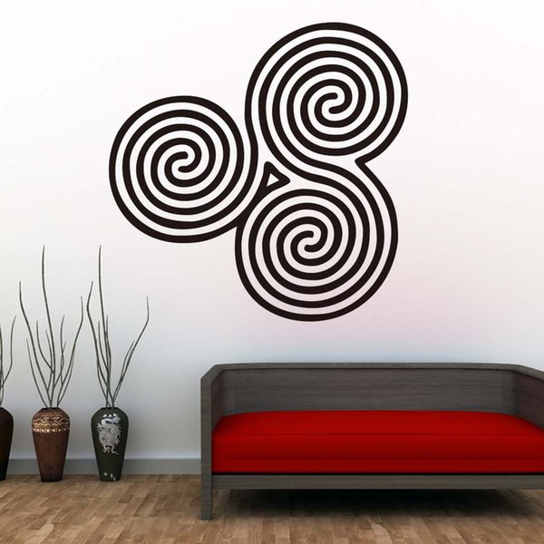 1 Pcs New Style Spirals Mandala Wall Decals Yoga Practicing Room Decorative Easy To Transfer Wall Sticker PVC Design Home Decor