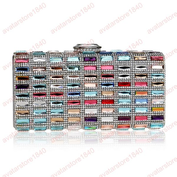 Acrylic Colorful Style Women Small Day Clutches Chain Shoulder Lady Summer Messenger Purse For Wedding Bridal Evening Bags