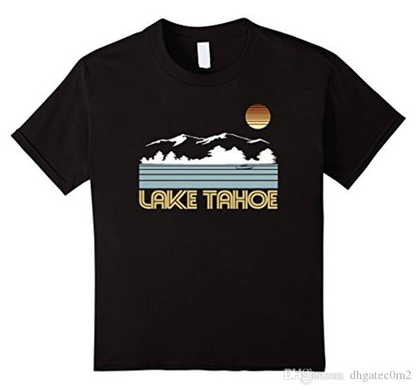 Cotton T Shirts Clothing Office Men Short-Sleeve Lake Tahoe Tee