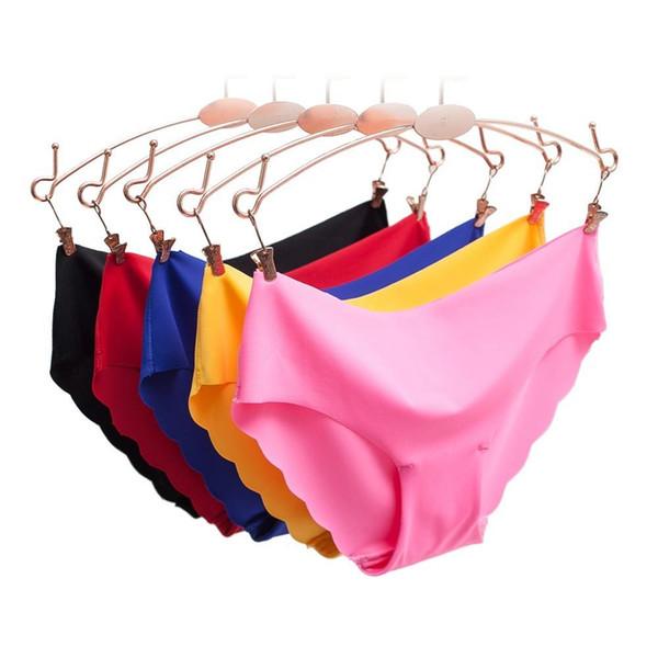 Women Panties Underwear Ultra-thin Viscose Seamless Briefs For Women's Comfort Low-rise Ruffles Sexy Lingerie Summer New Hot C19041502