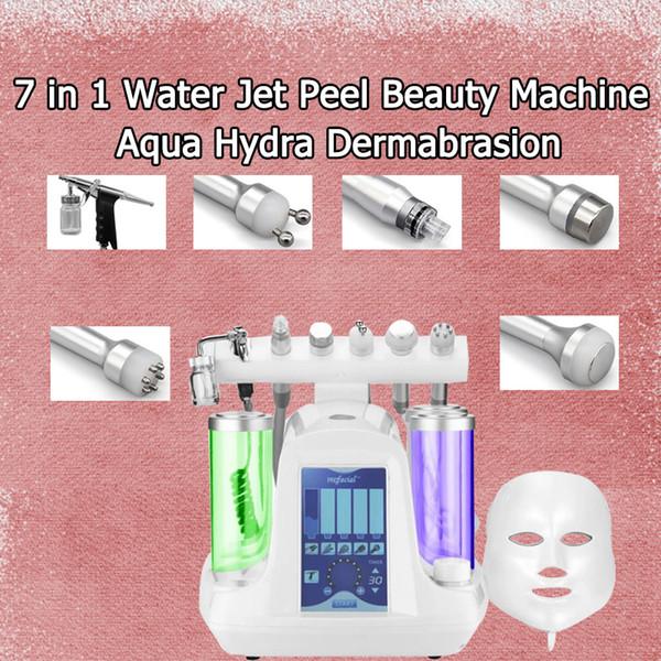 Venta caliente 6 en 1 Limpieza de la cara al vacío Hidráulica Dermabrasión Máquina de exfoliación por chorro de oxígeno y agua para el limpiador de poros al vacío Cuidado facial Máquina de belleza
