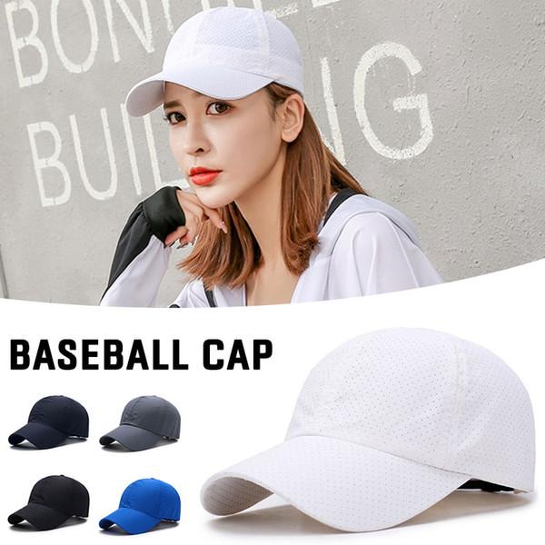 Sombreros de protección solar Se adapta a la manera de secado rápido plástica de la bóveda gorra en color del sombrero viseras Casual ajustable gorra de béisbol