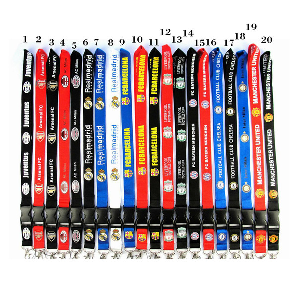 top popular Soccer Cell Phone Straps Football Lanyard Necklace Chain String E-Cigarette Phone camera ID card Rope lanyards For iPhone Samsung 2019