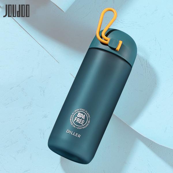 JOUDOO New Brief Tritan Plastic Water Bottle Sport 350ML/500ML Outdoor Hand Cup With Infuser Travel Portable Bottle Of Water 35