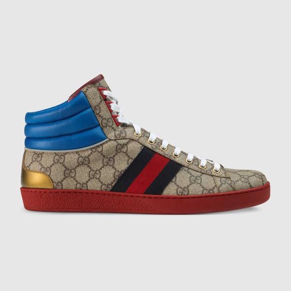 Hochwertige Herrenschuhe für Herren High-Top-Sneakers 555144 Laufschuhe Echtes Leder Handgemachtes Bankett bevorzugt