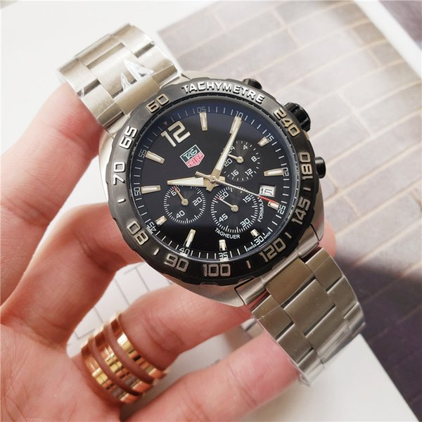 2019 latest men's full-featured quartz watch high-grade stainless steel men's casual fashion watch 44mm picture is really shooting