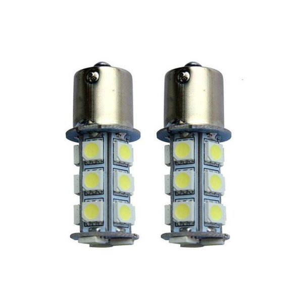 1156 1157 5050 18SMD Automotive Moda Led Light Bulb Patch Lâmpada Reversa Luz Traseira Do Carro RV Reboque lâmpada