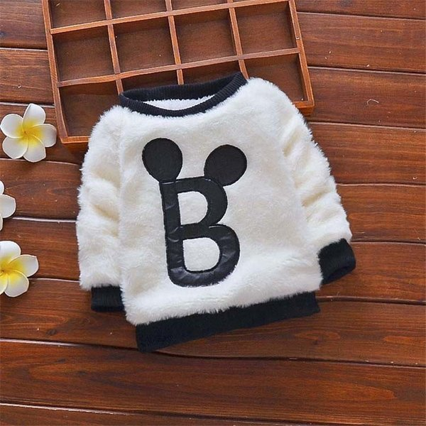 good quality Winter Children Outerwear Baby Boys Sweater Kids Boys Winter Warm Tops Child Velvet Sweater Baby Clothes