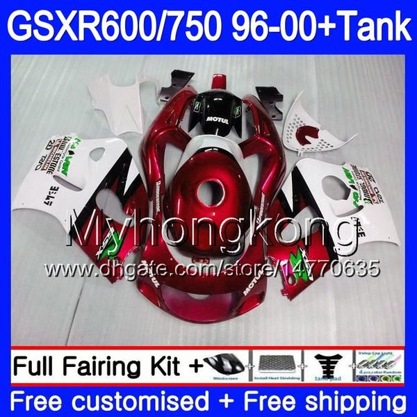 Bodys + Tank para SUZUKI SRAD GSXR 750 600 rojo oscuro 1996 1997 1998 1999 2000 291HM.59 GSXR600 GSXR-750 GSXR750 96 97 98 99 00 Carenado