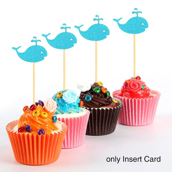 24pcs/set Baking Accessories Birthday Glitter Animal Design Decoration Inserted Card Cake Topper Home Dessert Cute Small DIY