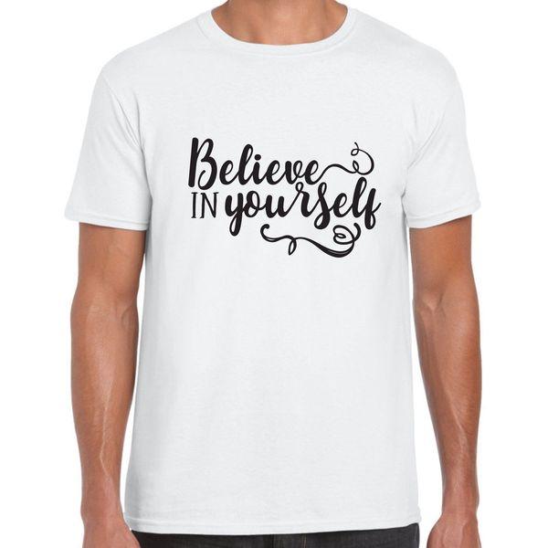 Glauben Sie an sich selbst - das motivierende T-Shirt für Herren Lustiges T-Shirt aus 100% Baumwolle mit kurzen Ärmeln und T-Shirt