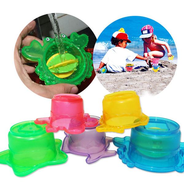 5pc / ensemble Piscine Flotteur Anneau Jouet Adulte Enfants Plage Stacking Jeu Parent-enfant Water Float Play Pool Accessoires
