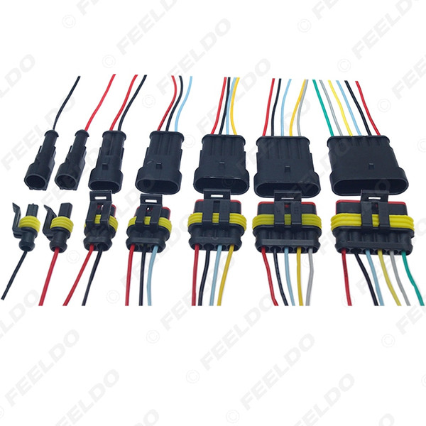 Auto Car Waterproof 3/4/5/6 Pin Way Electrical Connector Plug Wire Harness Motorcycle AWG HID Socket Adapter #6123