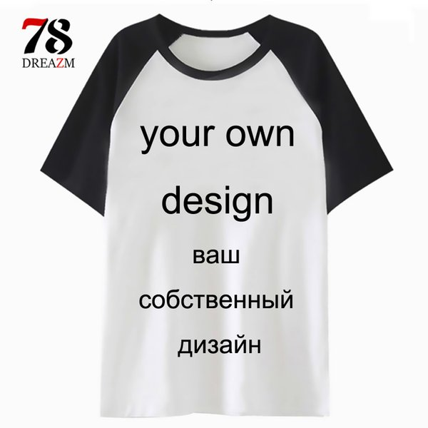 online retailer new style & luxury entire collection Custom T Shirt Logo Printing Picture Men/Women Your Own Design Tshirt DIY  Top T Shirt Male/Female Short Sleeve Customized Awesome T Shirt Designs Tea  ...