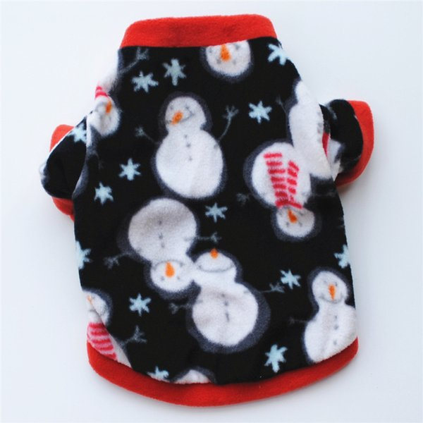 2018 New Dog Clothes Small Dogs Winter Warm Pet Coat Snowflake Snowman Printed Puppy Clothing Chihuahua Pug ropa perro Cheaper