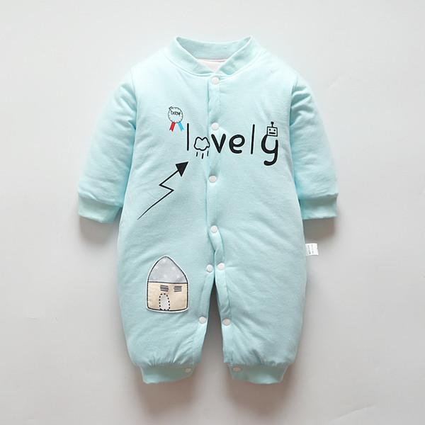 good quality Winter Thick Baby Pajamas Sleepwear For Newborn Warm Cotton Baby Boy Romper Kid Girls Jumpsuit Spring Clothes Pajamas