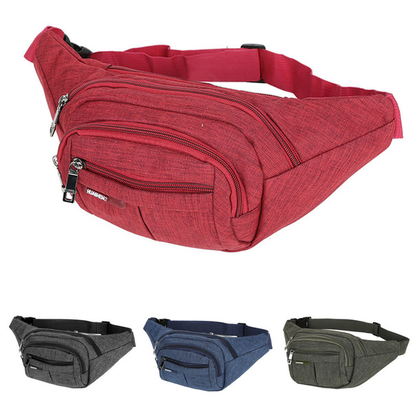 Unisex Charging Chest Bag Travel Bag Outdoor Durable Functional 4 Pure Color Crossbody tactical Chest Phone banana Bags