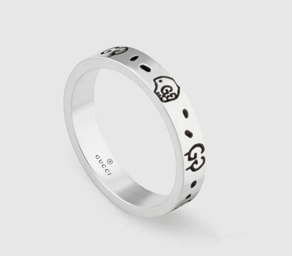 Brand design echt 925 sterling silber vintage ringe für frauen männer liebhaber punk mode kühlen schmuck schädel gg ring bijoux geschenke
