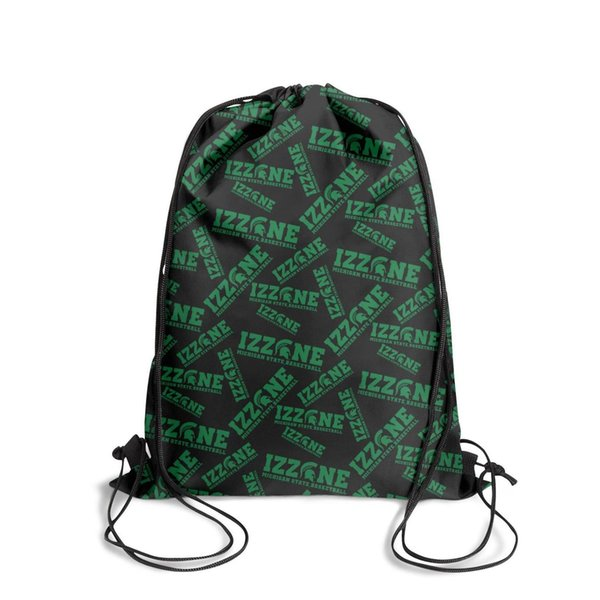 Drawstring Sports Backpack Michigan State Spartans football logo Popular Daily Gym Pull String Backpack