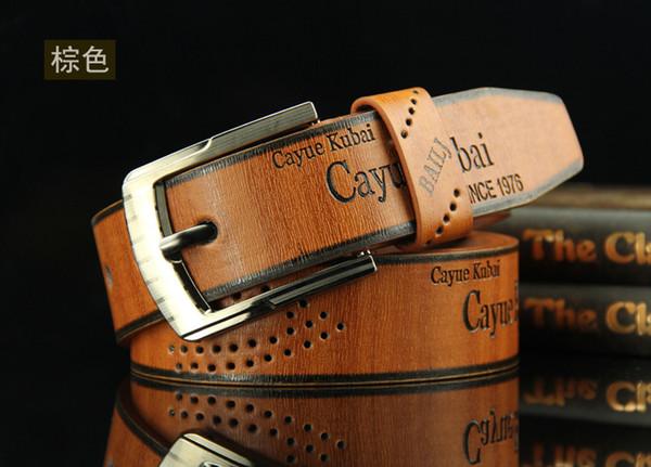 Корея мужская мода свободного покроя из искусственной кожи полый пояс старинные пряжки ремня талии бизнес-подарок