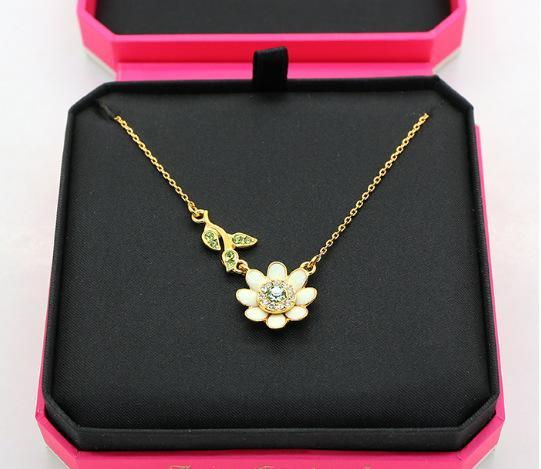 Бошуолин сочный бриллиант свежий белый цветок ромашки зеленый лист ожерелье браслет 925 серебряных игл ушей ноготь девушка