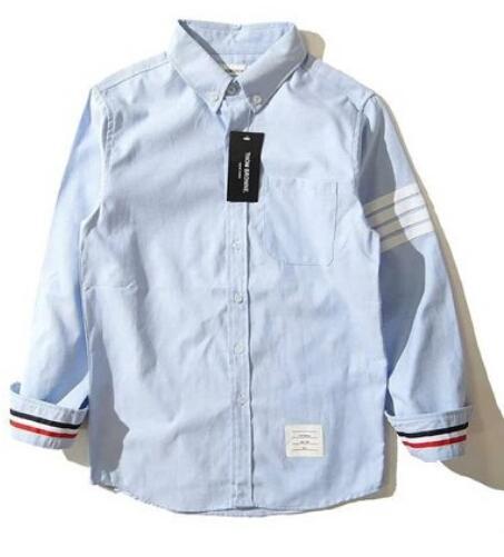 2019 Camicia di marca Vendita calda di alta qualità Moda uomo cotone Oxford Spinning Tempo libero camicia a maniche lunghe baveri Browned camicie all'ingrosso