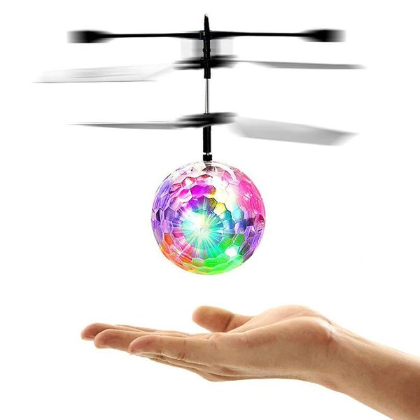 Light-Up Toys Colorful Ball Helicopters Drone Dron RC Flying Ball Drone Helicopter Built-In Shinning LED Lighting Flying Toys For Kids