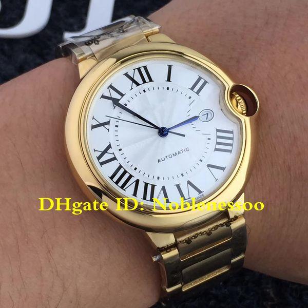 12 Color Classic Watch Original Box Luxury Mens 42mm Date W69005Z2 Yellow Gold Automatic Watch Men's large W69012Z4 Bracelet Men's Watches