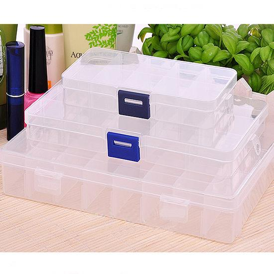 New Plastic 10 Slots Compartment Jewelry Necklace Storage Box Craft Organizer Container hot selling