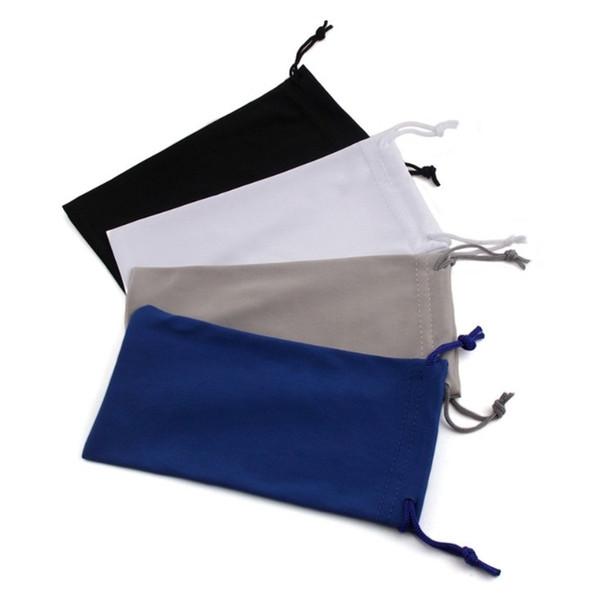 best selling Sunglasses Bag Case Custom Logo Solid Color High Quality Beam Microfiber Glasses Bag Erasable Glasses Bag