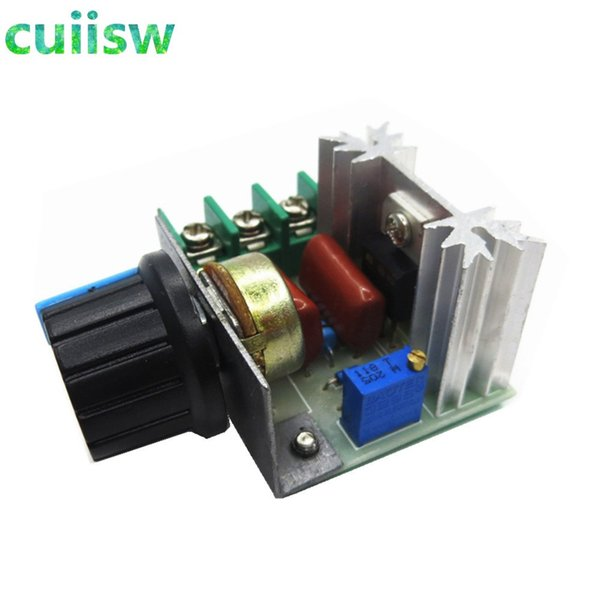 Freeshipping 10PCS/LOT AC 220V 2000W SCR Voltage Regulator Dimming Dimmers Speed Controller Thermostat