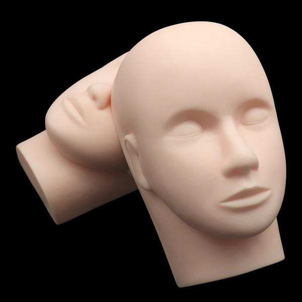 Maquillaje de entrenamiento Modelo Mannequin Head - Mujeres con los ojos cerrados Maquillaje Extensión de pestañas Práctica Maniquí Modelos Doll Head