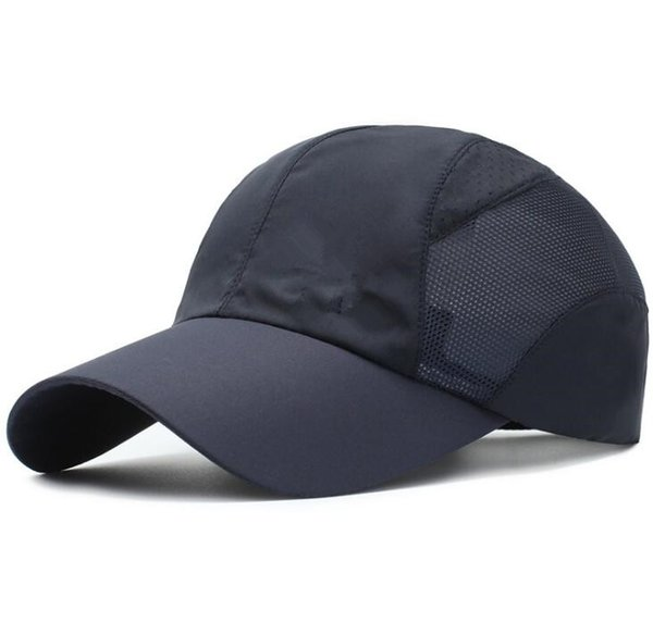 Spring and summer sports hat hat Men's visor outdoor quick-drying fabric baseball net cap breathable cap