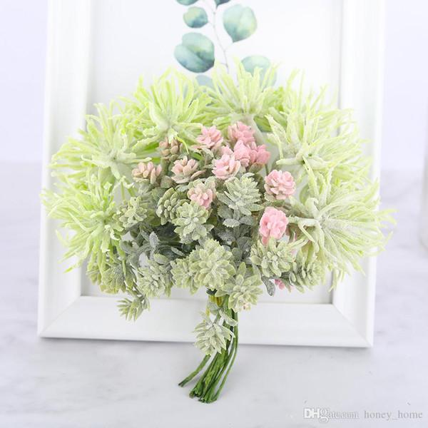 6 pcs Mini Artificial Planta Suculenta DIY Artesanal Flores Do Falso Decoração de Natal Grama Scrapbooking Flores Falsas Grinalda Barato