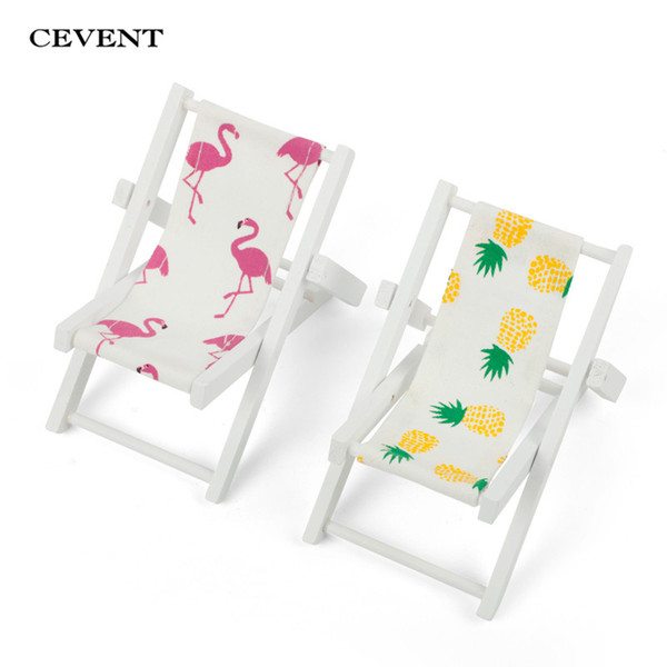 Magnificent Cevent Mini Flamingo Beach Chair Pineapple Pattern Fold Wooden Chair Craft Decor Party Gift Furniture Dollhouse Accessories Bachelorette Party Caraccident5 Cool Chair Designs And Ideas Caraccident5Info