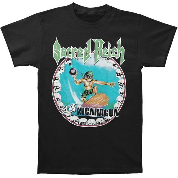Sacred Reich Hommes Surf Nicaragua T-shirt Noir nouveau 2018 T-shirt imprimé à manches courtes homme en coton