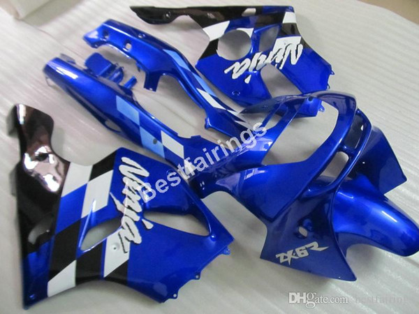 ABS plastic fairings for Kawasaki Ninja ZX6R 1994 1995 1996 1997 blue black fairing kit ZX6R 94 95 96 97 MT16