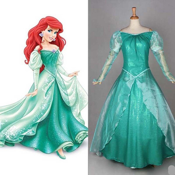 Compre Disfraces De Halloween Para Adultos La Sirenita Ariel Traje Del Vestido De La Princesa A 5483 Del Dream7 Dhgatecom