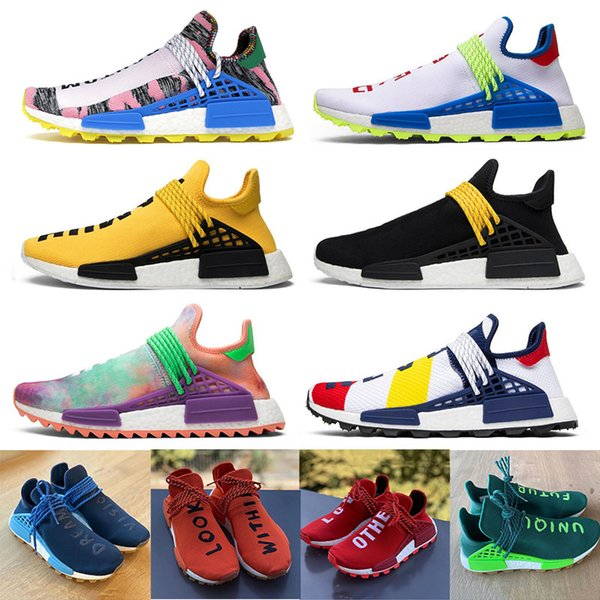 Unique Future HU NMD Human Race Mens Running Shoes Pharrell Williams Love Other Dreams Vision Look Within Heart Mind Sports Sneakers 36-45