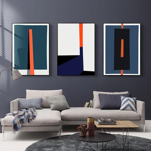 Acheter Abstraite Moderne Géométrique Coloré Poster Tableau Peintures Toile  Nordique Wall Art Photos Salon Bureau Décoration D\'intérieur De $35.11 Du  ...