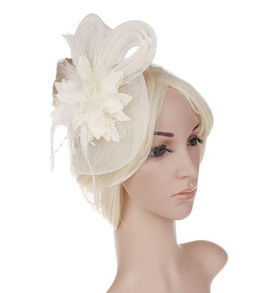 New Flower Yarn Kentucky Derby Cappellini Donna Cappello estivo Cappello a tesa larga da donna per donna