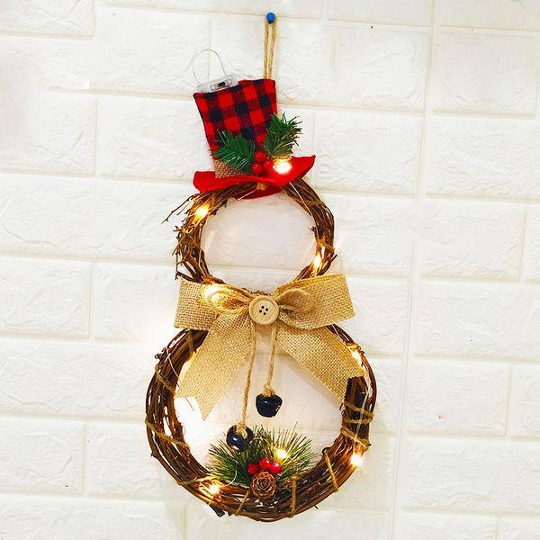 Dekorasyon Ev Çelenk Duvar Kapı Evi Dekor Round Asma Sıcak Noel Cadılar Bayramı LED Çelenk