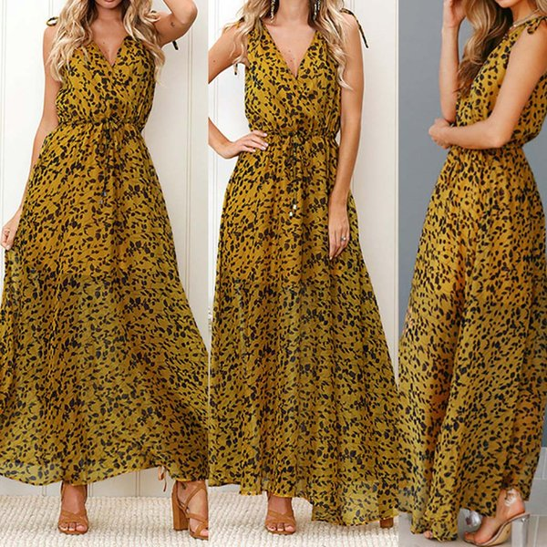 mujer 2019 Partido Impressão Chiffon Womens Vestidos lápis Max vestido bandage vestidos de fiesta eleganteds Vestidos de impressão Leopard