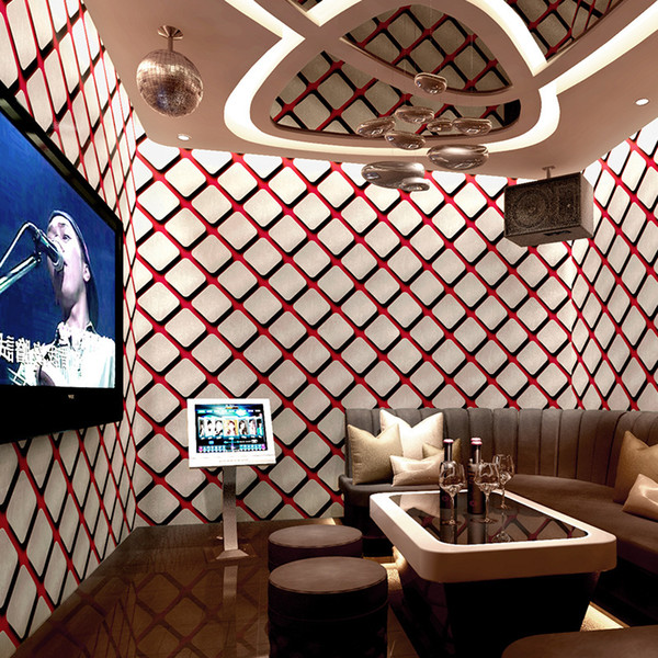Moder 3d stereo space KTV wallpaper personality fashion flash wall covering bar hotel fancy ballroom box theme room wallpaper