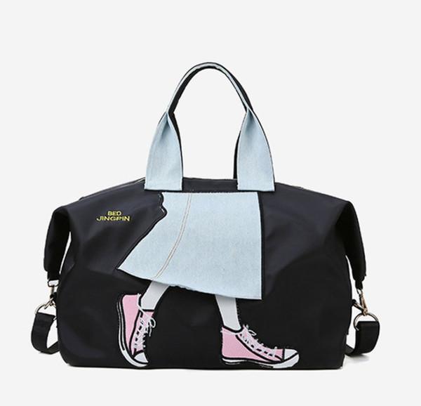 Bolsas contraste de viagens para Mulher Top Quality Oxford Bolsas de Ombro Designer Tote Bag Moda Impressão Duffel BagsTR008
