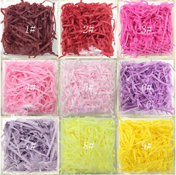 Hochzeitsgeschenk Schachtel Lafite Füllstoffe Weinverpackung Farbige Papierschnipsel Hochzeitssüßigkeit Seidenfarbige Papierschnipsel